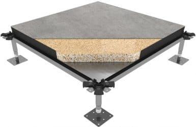 تصنيف الأرضيات المرتفعة حسب المادة الداخلية للبلاطة
